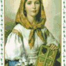 St. Dymphna of Ireland Pattern Chart Graph