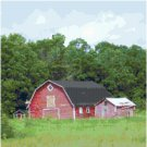 Old Red Barn Landscape Pattern Chart Graph