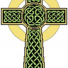Irish Celtic Knotted Cross Pattern Chart Graph