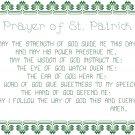 Prayer of St. Patrick Pattern Chart Graph