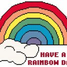 Have A Rainbow Day! Pattern Chart Graph