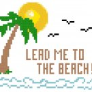 Lead Me to the Beach Pattern Chart Graph