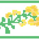 Yellow Flower Border Pattern Chart Graph