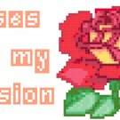 Roses Are My Passion Pattern Chart Graph