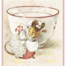 Lady Mouse Curtsies and Gentleman Mouse Bows Set by Beatrix Potter Pattern Chart Graph