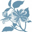Dogwood Blossoms - bluework Pattern Chart Graph