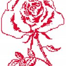 Red Rose - redwork Pattern Chart Graph