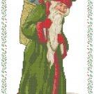 1800's Santa With Basket Pattern Chart Graph