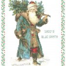 1800's Blue Santa Pattern Chart Graph
