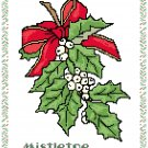 Mistletoe Bough Pattern Chart Graph