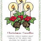 Christmas Candles Pattern Chart Graph