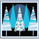 Mod Style Christmas Trees Pattern Chart Graph