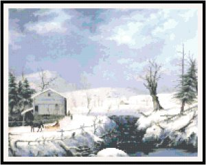 Winter in New England 1852 Pattern Chart Graph
