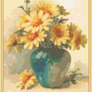 Marguerites in a Vase Pattern Chart Graph