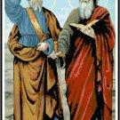 Saints Peter and Paul Cross Stitch Pattern Chart Graph