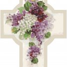 Cross of Lilacs Cross Stitch Pattern Chart Graph