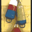 Fisherman's Bouys Still Life Seascape Cross Stitch Pattern Chart Graph