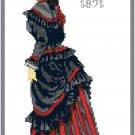 Miss Marie 1871 Fashion Design Pattern Chart Graph