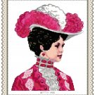 Portrait of Miss Elizabeth 1900 Pattern Chart Graph