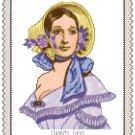 Portrait of Miss Charity 1840 Pattern Chart Graph