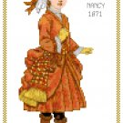 Miss Nancy 1871 Children's Fashion Design Pattern Chart Graph