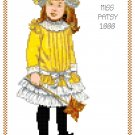 Miss Patsy 1888 Children's Fashion Design Pattern Chart Graph
