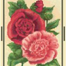 Antique Hollyhocks Flower Seed Packet Pattern Chart Graph