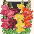 Antique Snapdragon Flower Seed Packet Pattern Chart Graph