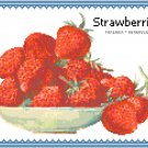 Old Fashioned Strawberry Bowl Pattern Chart Graph