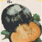 Antique Squash Seed Packet Pattern Chart Graph