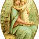 Blessed Virgin and Child Pattern Chart Graph