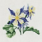 """COLUMBINE"" Completed Finished Cross Stitch"