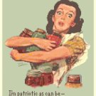 Of Course I Can! WWII Poster Cross Stitch Pattern Chart Graph