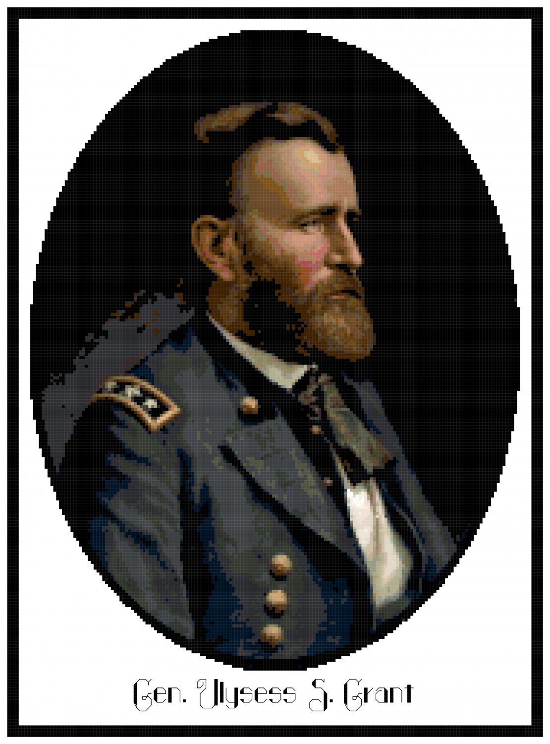 Portrail of Gen. Ulysess S. Grant - 1865