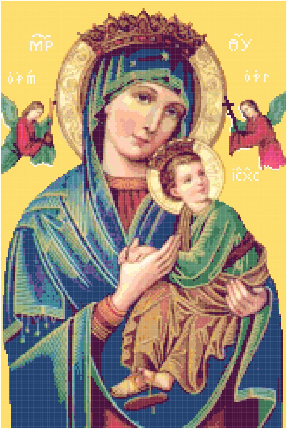 Our Mother of Perpetual Help Cross Stitch Pattern Chart Graph