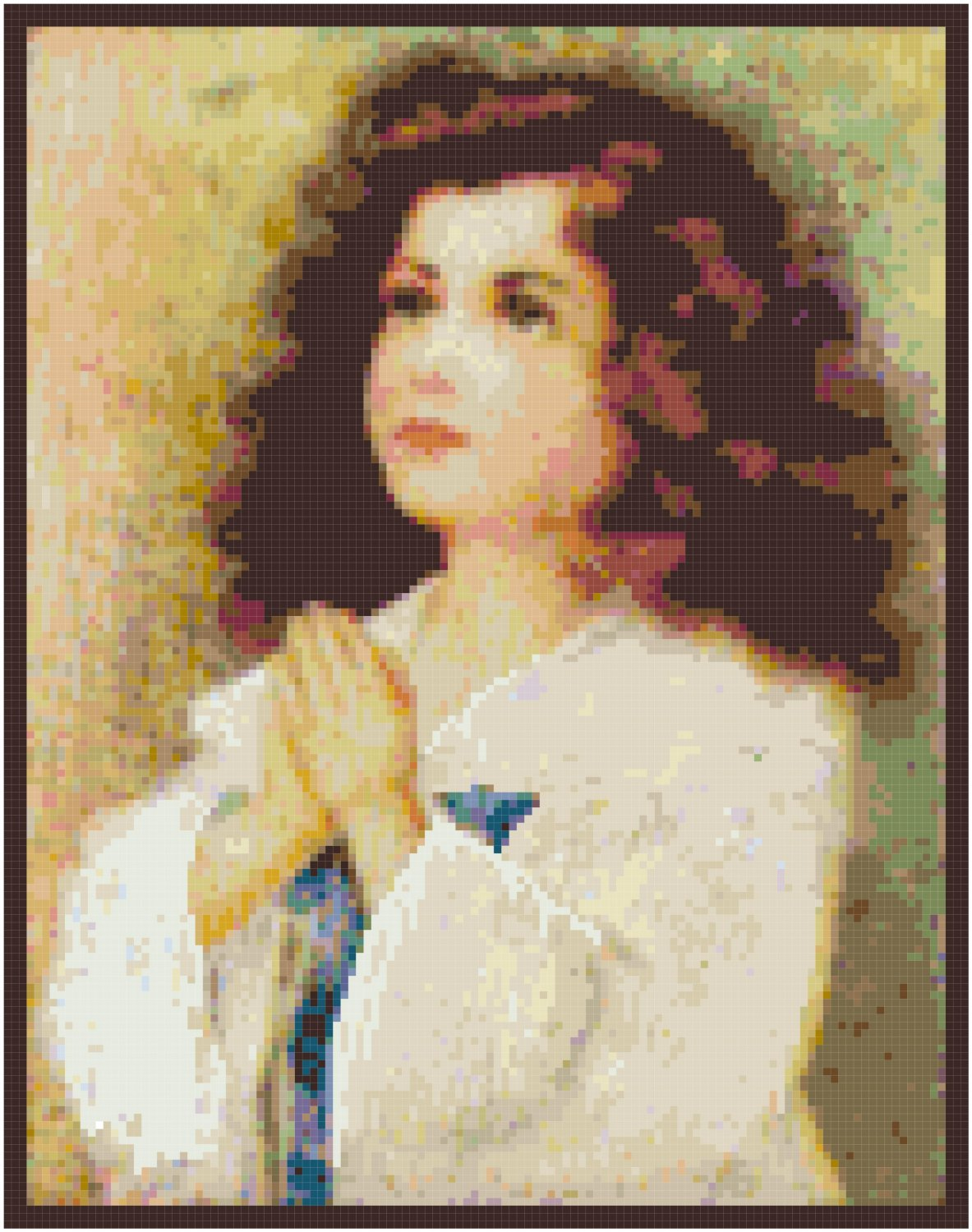 Prayers of a Child Cross Stitch Pattern Chart Graph