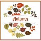 Autumn Wreath Cross Stitch Pattern Chart Graph