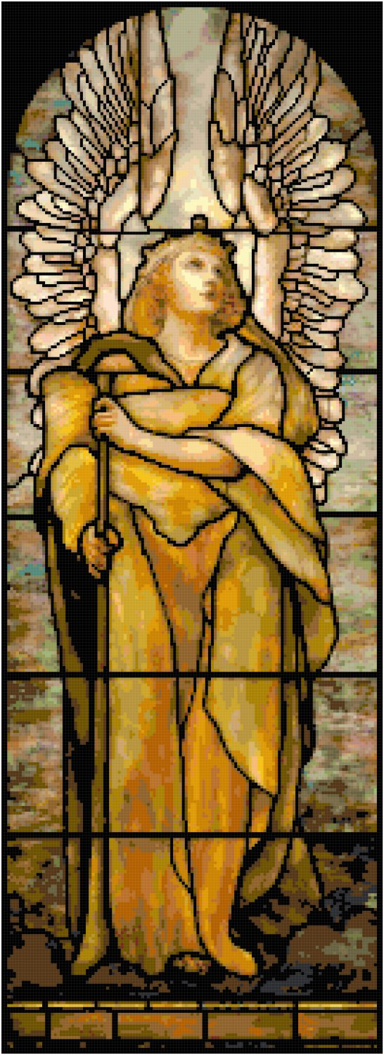 Angel of the Resurrection Cross Stitch Pattern Chart Graph