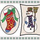Christmas Tokens Cross Stitch Pattern Chart, Graph