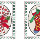 Candy Canes and Christmas Stocking Cross Stitch Pattern Chart Graph