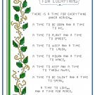 There Is A Time Cross Stitch Pattern Chart Graph
