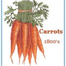 Country Carrots Cross Stitch Pattern Chart Graph