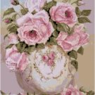 Roses in a China Bowl Cross Stitch Pattern Chart Graph