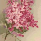Pink Lilacs Cross Stitch Pattern Chart Graph by Catherine Klein