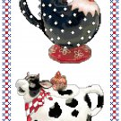 Country Farm Kitchen Teapots Cross Stitch Pattern, Chart, Graph