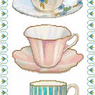 Time for Tea Cross Stitch Pattern Chart Graph