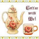 Coffee With Me! Cross Stitch Pattern Chart Graph