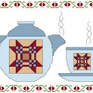The Quilter's Teapot and Cup Cross Stitch Pattern Chart Graph