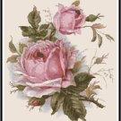 Beautiful Pink Roses Cross Stitch Pattern Chart Graph