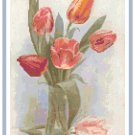 Spring Tulips in a Vase Cross Stitch Pattern Chart Graph